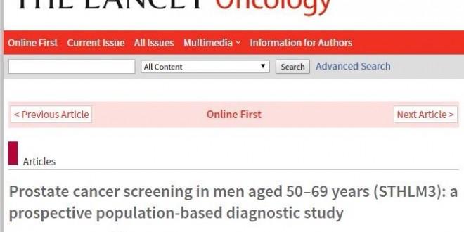 Novos modelos de rastreamento de Câncer de Próstata