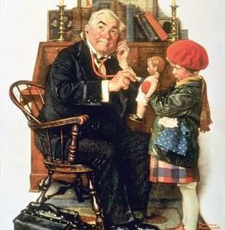 Doctor and Doll, 1929 – Norman Rockwell