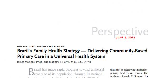 Estratégia de Saúde da Família no Brasil