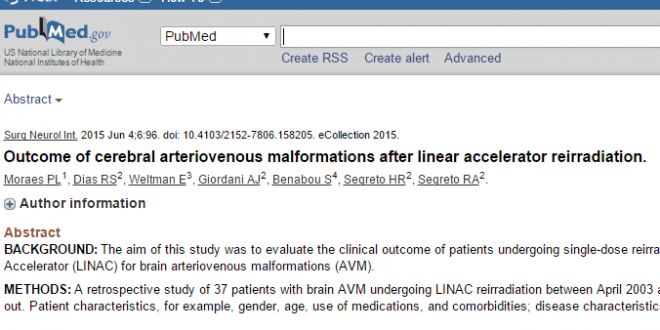 Outcome of cerebral arteriovenous malformations after linear accelerator reirradiation.